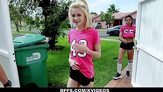 BFFS - Horny Soccer Girls Fucked by Trainers