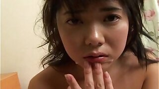 Hot Japanese schoolgirl gets her first cock and facial