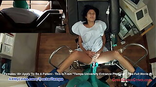 Shy Latina Alexa Chang's Exam Caught On Hidden Cameras By Doctor Tampa @ GirlsGoneGyno.com - Tampa University Physical