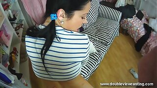 DOUBLEVIEWCASTING.COM - NELLY FEELS Remind emphasize Everywhere Their way Shopping-bag lady (POV VIEW)