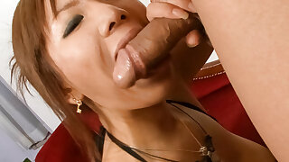 Mei Hitomi puts a lot of dick into her pussy - More at Slurpjp.com