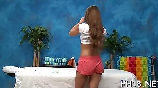 Hot eighteen year old cutie gets drilled hard by her massage therapist
